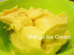 Jamie Oliver's Mango Ice Cream - for play date at Gail's. Healthy mango yoghurt ice cream sweetened with honey and made zesty with lime and mint. Recipe trial.