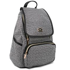 Amazing offer on Copi Women's Modern Deluxe Design Fashion Small Backpacks Black online - Newclothingtrendy Small Backpack, Black Backpack, Backpack Bags, Sport Chic, Fashion Bags, Fashion Backpack, Womens Fashion, Leather Slippers, Clutch Wallet