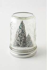 Winter wonderland in a jar.