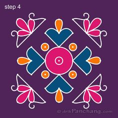 This page provides 7x7 Dot Rangoli Designs with title 7x7 Dot Rangoli 6 for Hindu festivals.