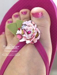 card creme: Pretty Up $3 Flip Flops