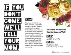 Observer Ad | 2016 Mother's Day Event | #print #notredame #advertising #marketing