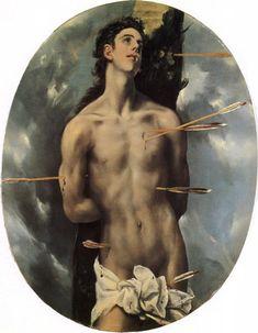 """The Martyrdom of Saint Sebastian"""" by El Greco (Domenikos Theotokopoulos)  (Greek, 1540/41–1614)"""