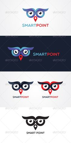 Buy Smart Point Stock Logo Template by vecras on GraphicRiver. Creative abstract showing eyes of a owl and a symbol of location as its nose. This creative abstract is showing intel.