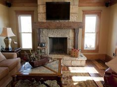 fireplace mantel ideas decorating with wooden floor