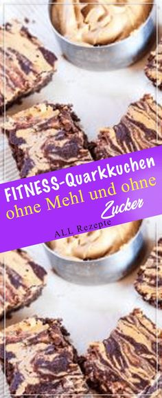 FITNESS-Quarkkuchen ohne Mehl und ohne Zucker – All Rezepte bites easy bites keto bites mini bites no bake bites no bake easy bites recipes Potluck Desserts, Summer Dessert Recipes, Dessert Cake Recipes, Easy No Bake Desserts, Healthy Dessert Recipes, Healthy Baking, Quick Easy Meals, Chocolate Recipes, Food