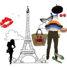 Paris Calling! (created by curly-lai on Polyvore)