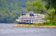 The American Queen on the Ohio River. Photo taken from Paden City Park, WV, July 2012.