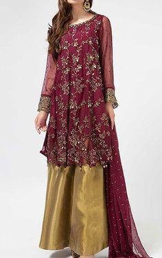 Modern Day Wedding Dresses and Arrangements Pakistani Party Wear Dresses, Dresses To Wear To A Wedding, Dulhan Dress, Anarkali Dress, Kurti, Desi, Summer Outfits, Traditional, Clothes
