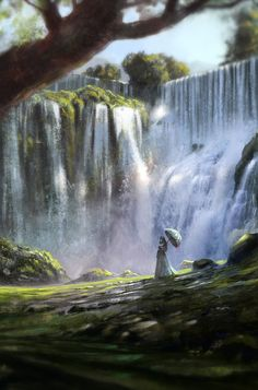 A Walk Near the Waterfall by Quentin Regnes