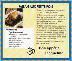 En période de chasse faites vous plaisir avec un délicieux faisan, cela change du poulet!