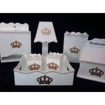 Kit Higiene Bebê Coroa Principe/ Princesa 8 Peças