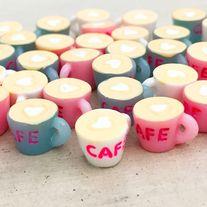 Mini+cappuccino+cabochons+in+3+colors  Quantity:+3+pcs+(1+pc+per+color)+/+6+pcs+(2+pcs+per+color)