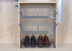 Shoe Rack and Bins by The Closet Builder