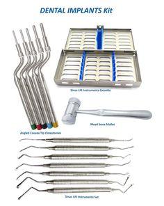 Zahnimplantat Set KONVEX Spitze Osteotomes, Sinus Heber Instrumente 7, Knochen