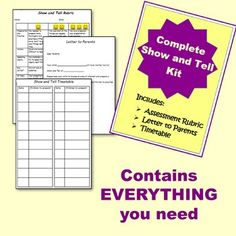 Complete Show and Tell Kit Rubric to assess presentation skills included New Teachers, Elementary Teacher, Elementary Education, Letter To Parents, Presentation Skills, Primary Classroom, Classroom Ideas, Public Speaking, Classroom Management