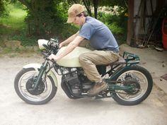 Our first bike build in 2010, Honda CBX550