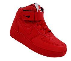 Tênis Infantil Nike Air Force 1 Mid '07 Vermelho