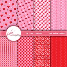 Valentine Digital paper VALENTINE PAPER by DoortjeDesign on Etsy