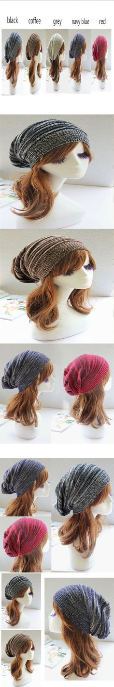 Unisex Warm Hedging Cap Female Spring Winter Hats for Women Men Warm Ear Hat Kint Wool Fold Elastic Cool Cap Bonnets MN673