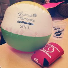 Freebies! Beach balls, coozies, cups and more! Just for coming to the party!