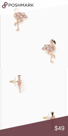 Kate Spade - NWT Bird's the Word Flamingo Earrings Kate Spade - NWT Bird's the Word Pink Crystal Flamingo Earrings. These are so pretty 😍 Be sure to check out my closet for more items to bundle and save!! 🤑 kate spade Jewelry Earrings