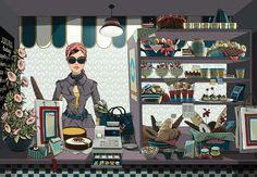 #AnnaLazareva #fashion #fashionable #illustration #lifestyle #cafe #bakery #boulangerie #hipster #style #stylish #digitalillustration #digital #LindgrenSmith