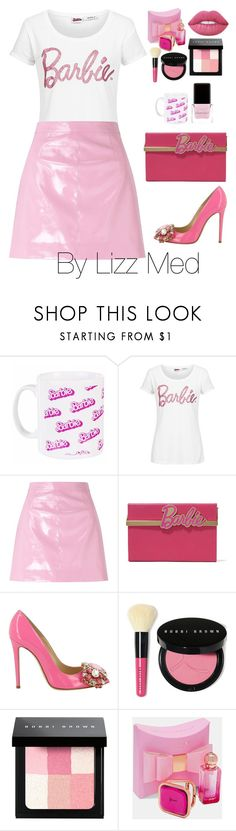 """""""Barbie Girl"""" by lizz-med ❤ liked on Polyvore featuring Miss Selfridge, Charlotte Olympia, GEDEBE, Bobbi Brown Cosmetics, Ted Baker and Context"""