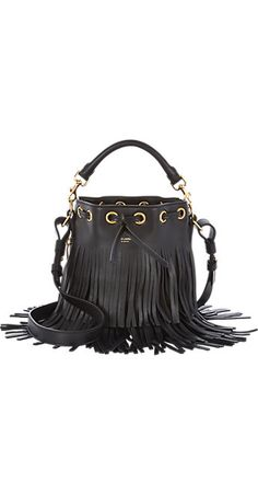 Saint Laurent Fringed Small Bucket Bag -  - Barneys.com