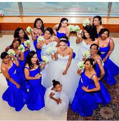 Joke & Azeez's extravagant wedding last Saturday October surely blew our mind! That was one wedding that got many people on social media talking. The wedding took place at Oriental Hotel Lagos, and we Wedding Picture Poses, Wedding Poses, Wedding Attire, Wedding Ideas, Blue Wedding, Wedding Colors, Wedding Styles, Dream Wedding, Royal Blue Bridesmaids