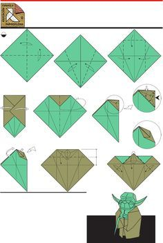 how to make origami yoda step by step - Google Search