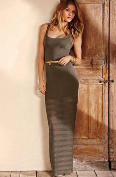 Knit maxi dress victoria secret