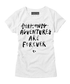 Look what I found on #zulily! White 'Adventures Are Forever' Crewneck Tee #zulilyfinds