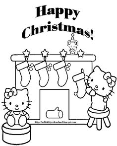 httpcoloringscocoloring pages for girls hello kitty christmas