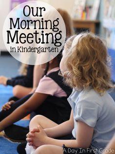 Morning Meeting In Kindergarten