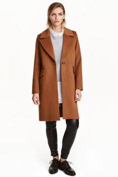 Short wool-blend coat   H&M