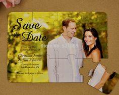 Save The Date Quebra-cabeça. #casamento #criativo