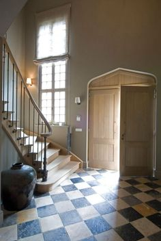 Decor Inspiration Under the Tuscan Farmhouse Sun - Hello Lovely Entry Hall, Entrance, Checkered Floors, English Manor Houses, Tuscan Decorating, Tuscan Style, Architecture Details, Beautiful Architecture, Stairways