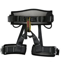 Outdoor Climbing Half Body Harness Safe Seat Belts for Mountaineering Fire Rescue Higher Level Caving Rock Climbing Rappelling Equip Black. Entire harness constructed from quick-dry nylon webbing. CE Certified.Weight limited:2200KG. Waist ring size: Approx. 70 - 122 cm / 27.5- 48 inch.Leg ring size: Approx. 52 - 74 cm / 20.4 - 29.1 inch. Traditional buckle, harness construction distributes pressure to keep you comfortable while climbing;waist belt and leg loop are lineed with breathable…