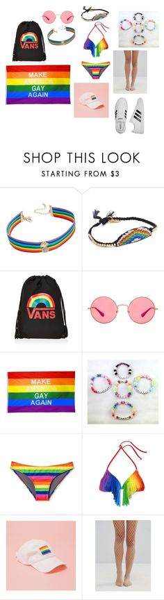 """Portland Pride"" by gentlegore ❤ liked on Polyvore featuring INC International Concepts, Venessa Arizaga, Vans, Ray-Ban, Concept One, Gipsy and adidas"