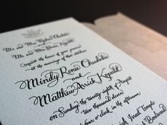 Ladyfingers Letterpress - Matt and Mindy's elegant Chicago wedding