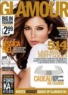 Jessica Biel Glamour Magazine Cover [Netherlands] (January 2013)