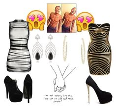 """Night out with Antwun <3"" by kalistabaldwin ❤ liked on Polyvore featuring art"
