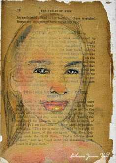 Touch It If You Dare - book page portrait art by Katie Jeanne Wood