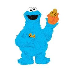 York Wallcoverings RMK2627GM Sesame Street - C is for Cookie Monster ($36) ❤ liked on Polyvore featuring home, children's room, children's decor, blue, home decor, wall decals and wallpaper