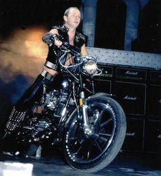 Rob Halford on Bike