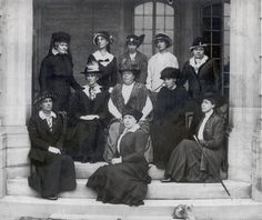 Lady Mary Pellatt and early supporters of Girl Guides at Casa Loma. Date: circa 1918.
