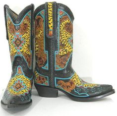 633997aad34 Gila Monster hand tooled boots in stock one pair in men size 11 ready to  ship. in Clothing, Shoes & Accessories, Men's Shoes, Boots