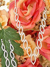 #5055-14 - Be a Brilliant Bride with Shining Crystal Leaf Wedding Jewelry Sets