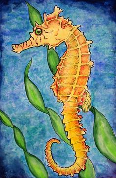 Seahorse by *weezie on deviantART | Seahorse Art